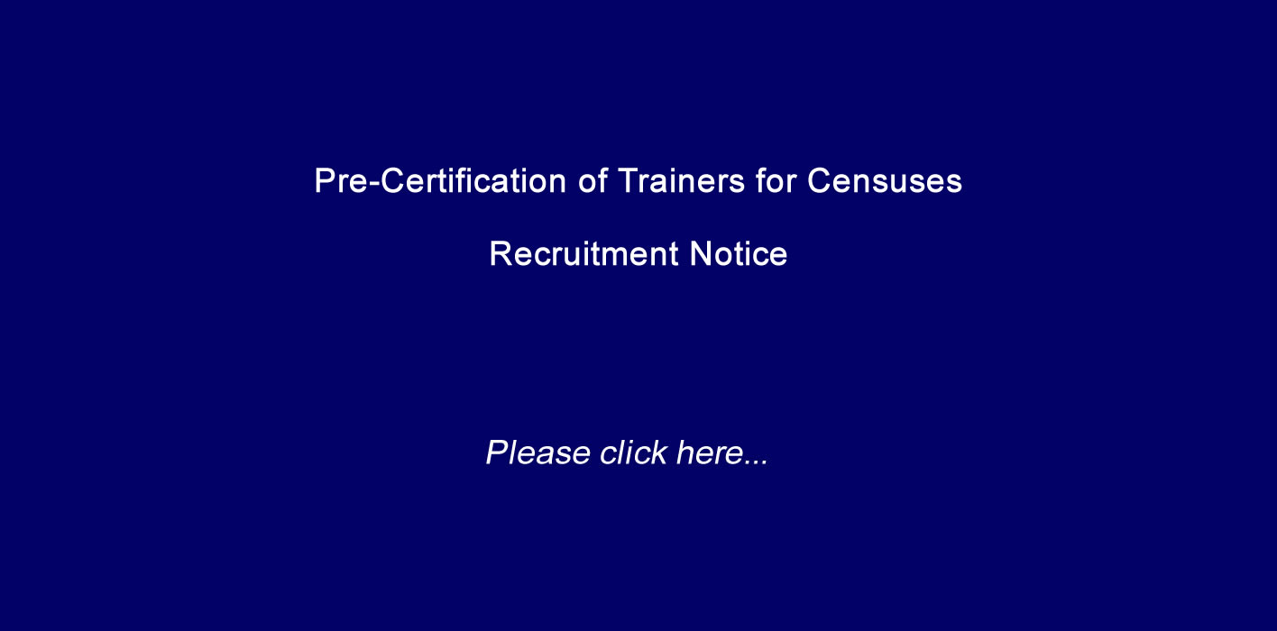 Pre-Certification of Trainers for Censuses